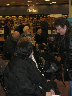 Over 60 fans attended the Whale Song Book Launch