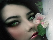Flower Lily Mysterious Eyes