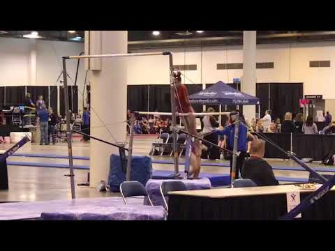 HOUSTON NATIONAL INVITATIONAL 2019 LEVEL1 UNEVEN BARS PAULINA