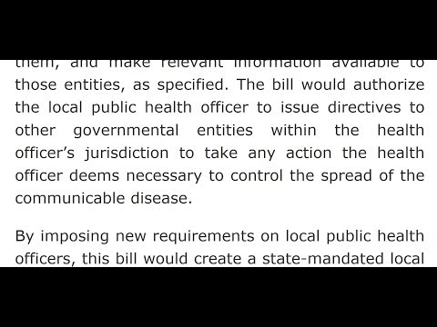 New CA Vaccine Law ~County Offical Decides Who MUST Get Vaccinated and Quarantined..WTFU !!!