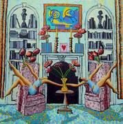 gay art   couple paintings  homosexual artworks painting lgbt painter  raphael perez