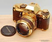 Pentax LX 1981 de 18 quilates de oro con cuero