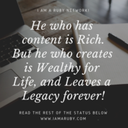 He who has content is Rich!
