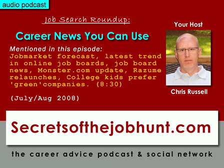 Job search news for July/august