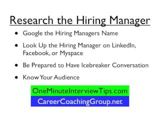 One Minute Interview Tips!