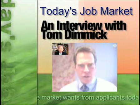 Tom Dimmick on Job Search Tips
