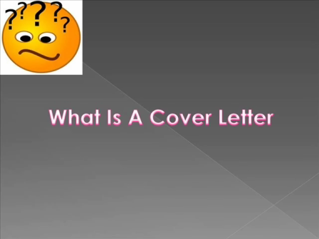 Introduction of Cover Letters