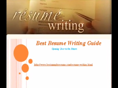 Best Resume Writing Guide