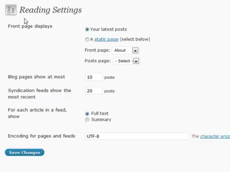 WordPress for Blogging Part 17: Reading Settings