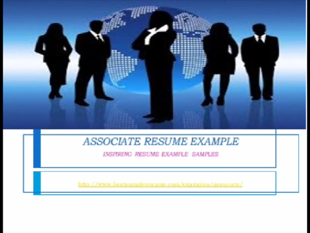 Associate Resume Examples