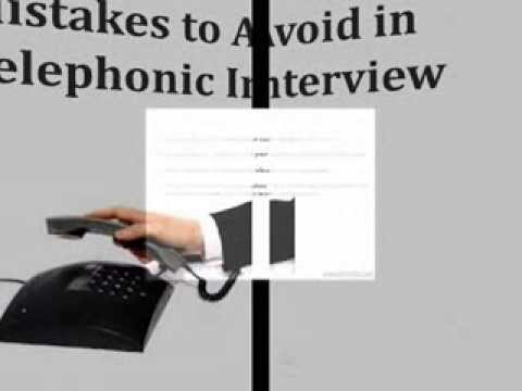 Tips on Telephone Interview