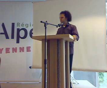 Eyal Raviv speaking in France, July 2007