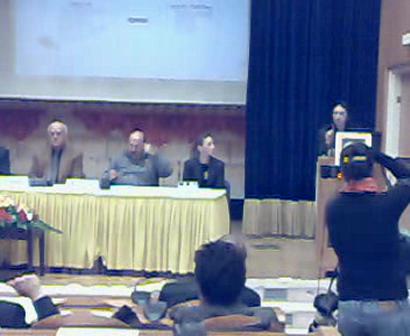 Nancy Sadiq at Peace NGO Forum, Jerusalem, February 28, 2008