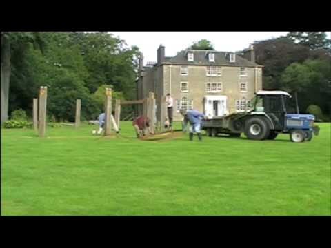 Constructing the pavilion