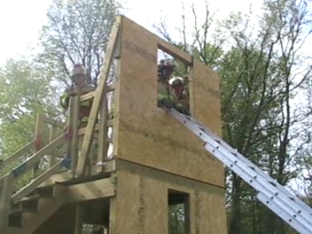 District 8 Firefighter Training Ladder Bail Drill