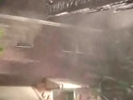 "BASEMENT FIRE EXTENDS INTO WALLS..HEAVY FIRE VENTS THRU THE ROOF ""PACK RAT CONDITIONS"""
