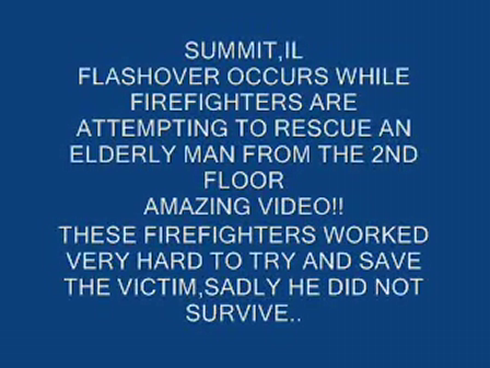 (PART1)DRAMATIC F/F ESCAPE DURING FLASHOVER-FATAL HOUSE FIRE