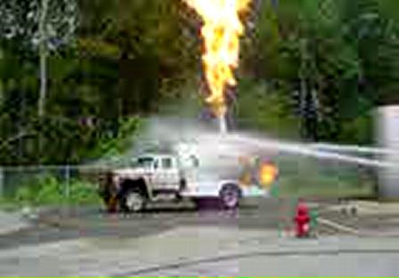 Training, propane fires Surrey, N.C.