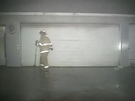 INCREDIBLE KNOCKDOWN-GARAGE ON FIRE-(lockport,IL)