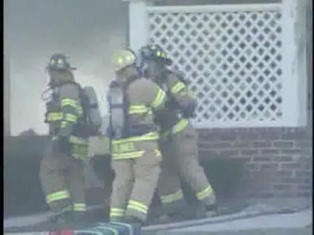 firefighters Scuffle On Scene