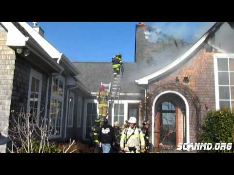 House Fire in Lusby Maryland: Mayday Called