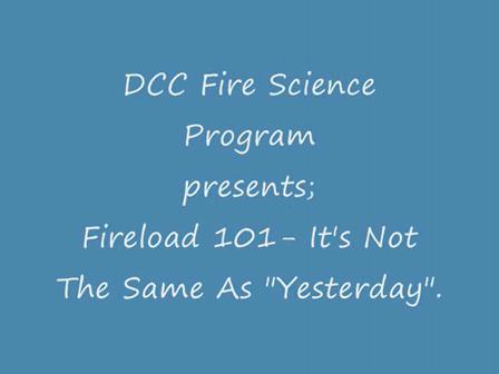 DCC FIRE SCIENCE FIRELOAD