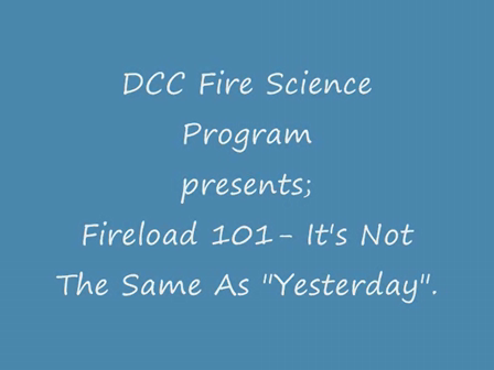 DCC FIRE SCIENCE FIRELOAD
