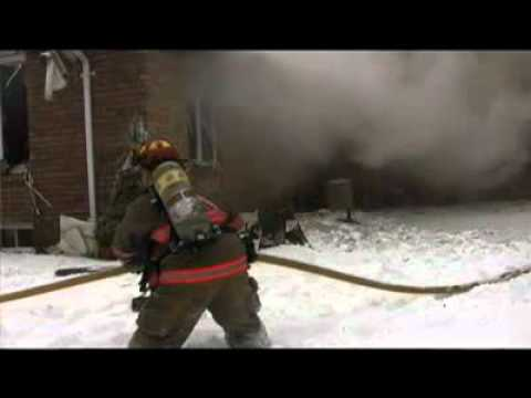 Canadian Firefighter Injured, Falls Through Floor at House Fire