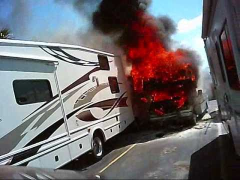RV fire on helmet cam