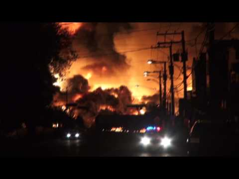 Catastrophe Lac Mégantic: Quebec Train Fire