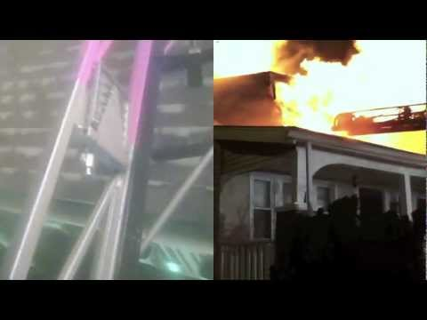 House Fire Roof Vent Helmet Cam - Training Tips
