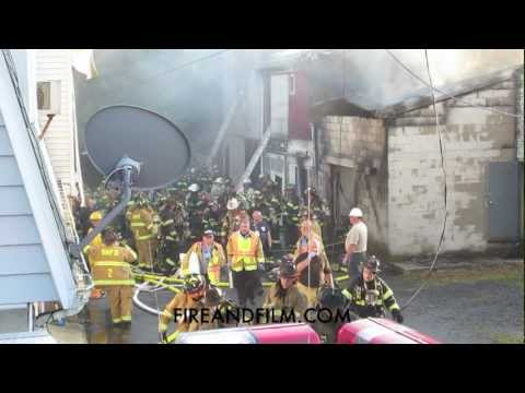 Schuylkill Haven (PA) 4-Alarm fire with MAYDAY - 5/31/2012