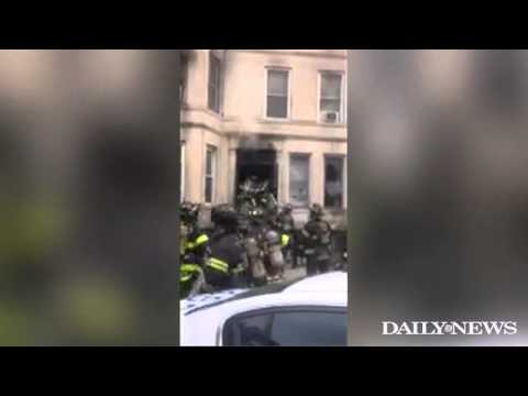 Raw Video: Brooklyn, Fire in Bed-Stuy OMD