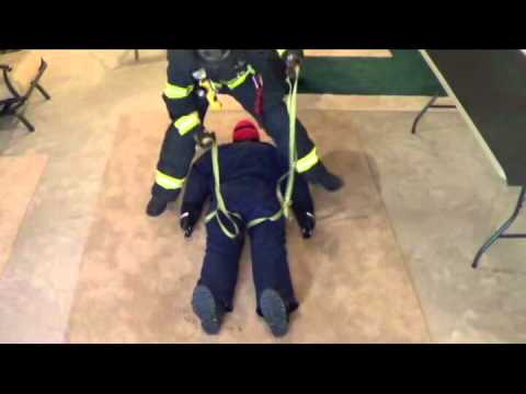 Single Firefighter Hasty Harness for Victim Rescue