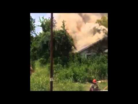 House Fire Response with Interior Helmet Cam Footage