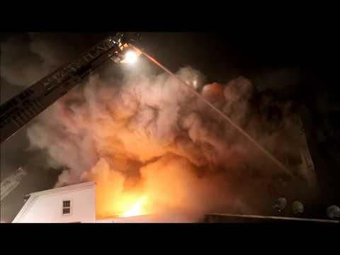 Howe Ave. 4th Alarm (Shelton, CT) 1/6/14