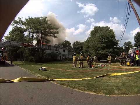 Large CT House Fire