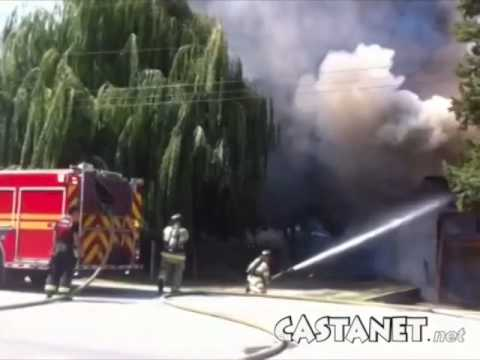 House fire in Rutland, BC