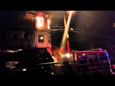 Waltham Fire At 2:30 On Ash Street In Waltham, MA8/6/2014