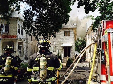 Elizabeth (NJ) Four-Alarm Fire with Rescue