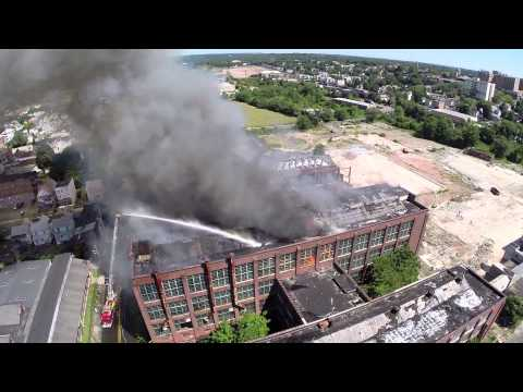 Remington Arms Factory Fire (Bridgeport, CT) 8/1/14 Long Version