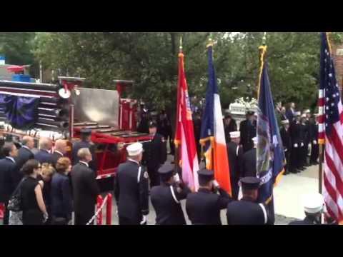 """The funeral for firefighter Gordon """"Matt"""" Ambelas"""