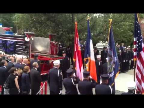 "The funeral for firefighter Gordon ""Matt"" Ambelas"