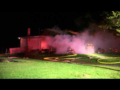 Fully Involved Ontario (Canada) Structure Fire