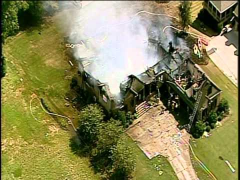 Aerial Video: Cartersville (GA) House Fire