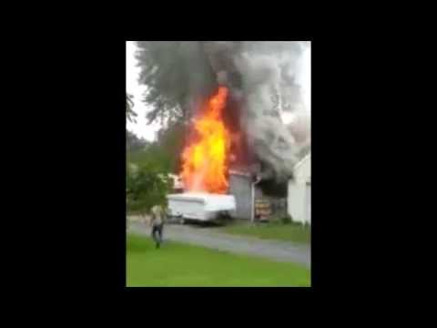 Easton (PA) Garage Fire