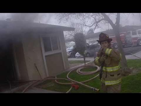 Helmet Cam: Fresno (CA) Apartment Rescue