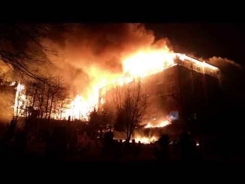 Massive Edgewater (NJ) Apartment Complex Fire