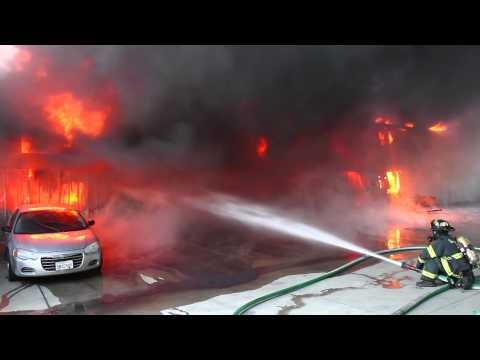 San José Firefighters Tackle 5-Alarm Structure Fire