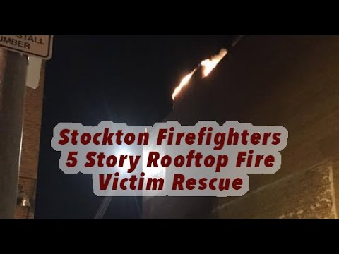 Stockton (CA) Rooftop Fire